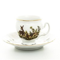 Набор кофейных пар Bernadotte Охота 90мл(6 шт)