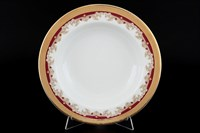 Набор глубоких тарелок Thun Кристина Красная Лилия 22см (6 шт)
