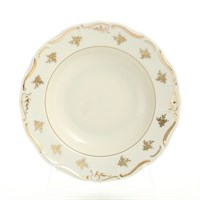 Набор глубоких тарелок Thun Мария Луиза слоновая кость 23см(6 шт)