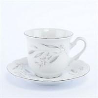 Набор чайных пар Thun Констанция Серебряные колосья 220 мл(6 пар)