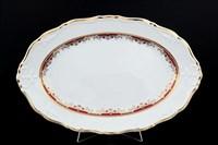 Блюдо овальное Thun Мария Луиза Красная лилия 34см