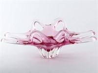 Фруктовница фигурная Egermann Розовая 45см