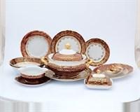 Столовый сервиз на 6 персон 26 предметов Красный лист Sterne porcelan