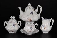 Чайный сервиз Queen's Crown Гуси Корона 6 персон 15 предметов