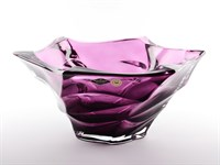 Фруктовница фиолетовая Bohemia Treasury Flamenco 29,5 см