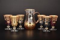 Набор 7 предметов графин и стаканы 1+6 Veneziano color