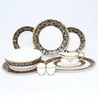 Столовый сервиз Prouna Clarice Cobalt Gold 6 персон 25 предметов