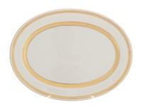 Блюдо овальное Falkenporzellan Constanza Cream Gold 35 см