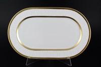 Блюдо овальное Falkenporzellan Constanza Diamond White Gold 36 см