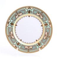 Набор тарелок Falkenporzellan Donna Seladon gold 28см(6 шт)