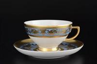 Набор чайных пар Falkenporzellan Imperial Blue Gold 220 мл(6 пар)