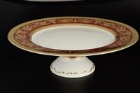 Тарелка для торта на ножке Falkenporzellan Imperial Bordeaux Gold 32см