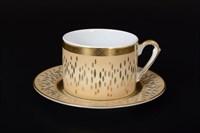 Набор чайных пар Falkenporzellan Rialto Creme Gold 220мл (6 пар)