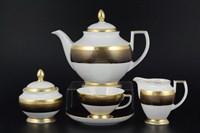 Чайный сервиз Falkenporzellan Rio black gold 6 персон 17 предметов