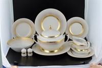Столовый сервиз на 6 персон 27 предметов Rio white gold