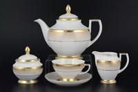 Чайный сервиз Falkenporzellan Rio white gold 6 персон 17 предметов
