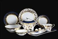 Столовый сервиз на 6 персон 27 предметов Tosca Blueshade Gold