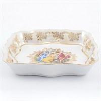 Салатник квадратный Queen's Crown Мадонна перламутр 16 см