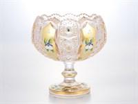 Конфетница золото на ножке Bohemia Max Crystal 13 см