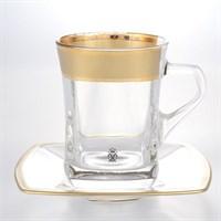 Набор чайных пар AS Crystal Матовая полоса 250 мл(6 пар)