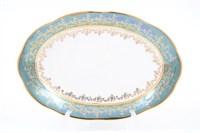 Блюдо овальное Sterne porcelan Зеленый лист 32 см