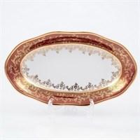 Блюдо овальное Sterne porcelan Красный лист 24 см