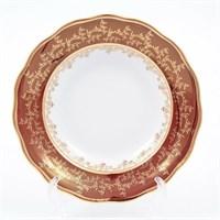 Набор тарелок  глубокие Sterne porcelan Красный лист 23 см(6 шт)