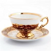 Набор чайных пар Sterne porcelan Красный лист 220 мл(6 пар)