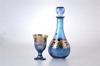 Набор Art Decor Veneziano Blu Oro 7 предметов графин и фужеры