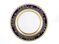 Блюдо круглое Falkenporzellan Constanza Cobalt Gold 32 см