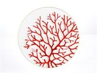 Набор тарелок Falkenporzellan Corallo Red Gold 28см(6 шт)