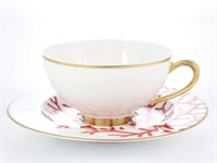 Набор чайных пар Falkenporzellan Corallo Red Gold (6 пар)