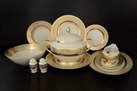 Столовый сервиз на 6 персон 27 предметов Cream Majestic Gold