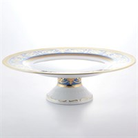 Тарелка для торта на ножке Falkenporzellan Imperial Blue Gold 32см