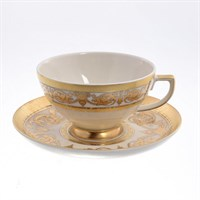 Набор чайных пар Falkenporzellan Imperial Creme Gold Constanza 220мл(6 пар)