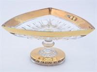 Фруктовница на ножке Bohemia Max Crystal Золото 30см