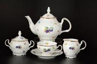 Чайный сервиз на 6 персон Bernadotte Слива 17 предметов