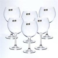 Набор бокалов для вина Crystalite Bohemia Sylvia/Klara 460 мл (6 шт)