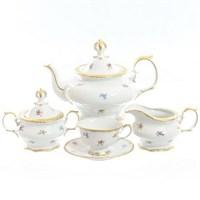 Чайный сервиз Queen's Crown Мелкие цветы 6 персон 17 предметов