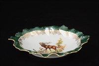 Салатник круглый Queen's Crown Охота зеленая 17 см