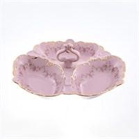 Менажница Leander Соната Мелкие цветы Розовый фарфор Кабаре 23см