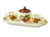 Кофейный набор на подносе NUOVA CER Груша 5 предметов