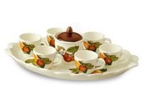 Кофейный сервиз NUOVA CER Груша 8 предметов (6 кружек + сахарница с крышкой на подставке)