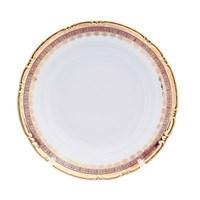 Блюдо круглое глубокое Thun Констанция Рубин Золотой орнамент 31см