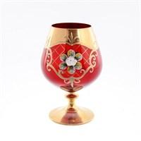Набор бокалов для бренди Bohemia Лепка красная (6 шт)