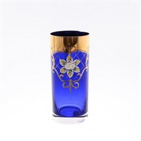 Набор стаканов для воды Bohemia Лепка синяя (6 шт)