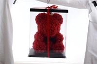 Мишка из 3D красный в подарочной упаковке