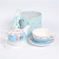 Набор Royal Classics 3 предмета (чайник + кружка + блюдце) Голубой