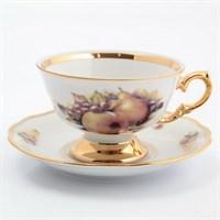 Набор чайных пар Sterne porcelan Фрукты 220мл(6 пар)