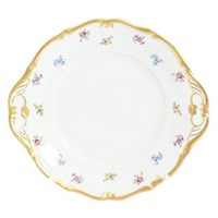 Тарелка для торта Queen's Crown Мелкие цветы Корона 27см